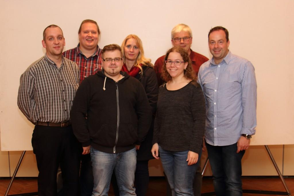 v.l. Lars Bollmann, Johannes Müller, Björn Stephan, Doris Schwänen, Susanne Krause, Klaus Fleer und Anno Immenga